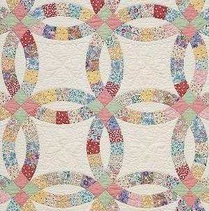 Double Wedding Ring Quilt By Bessie Wedding Ring Quilt Templates Wedding Ring Quilt Wedding Quilt