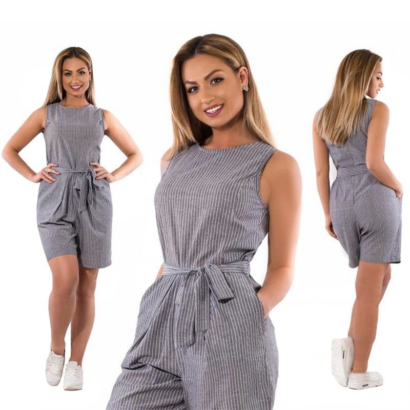 216e0bbf34 5XL 6XL plus size jumpsuits for women 2018 summer rompers womens jumpsuit  shorts playsuit striped overalls combinaison femme - Online Shopping in  USA  ...