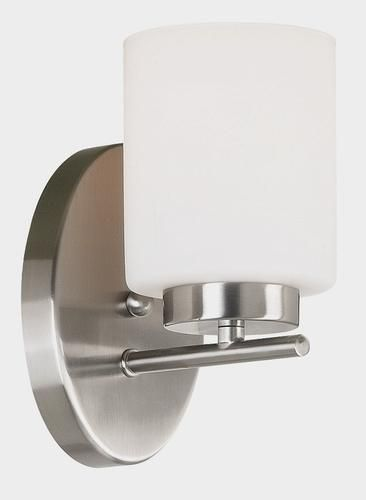 Hunter Lighting Mezzanine Brushed Steel Contemporary 1 Light Indoor Wall Sconce Wall Sconces Sconces Sconce Lighting