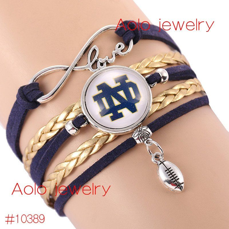 Notre Dame Fighting Irish College Football Team Bracelet