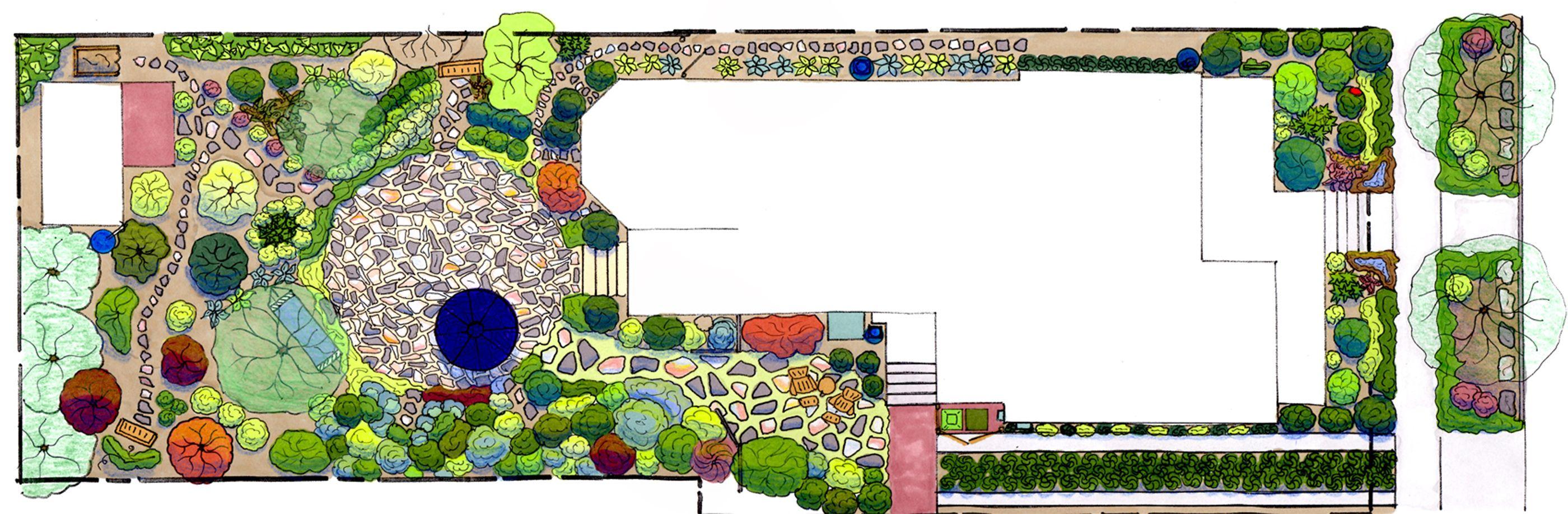 Garten Im Hinterhof Landschaftsbau Ideen Woohome Kleine Pläne, Rasen ...