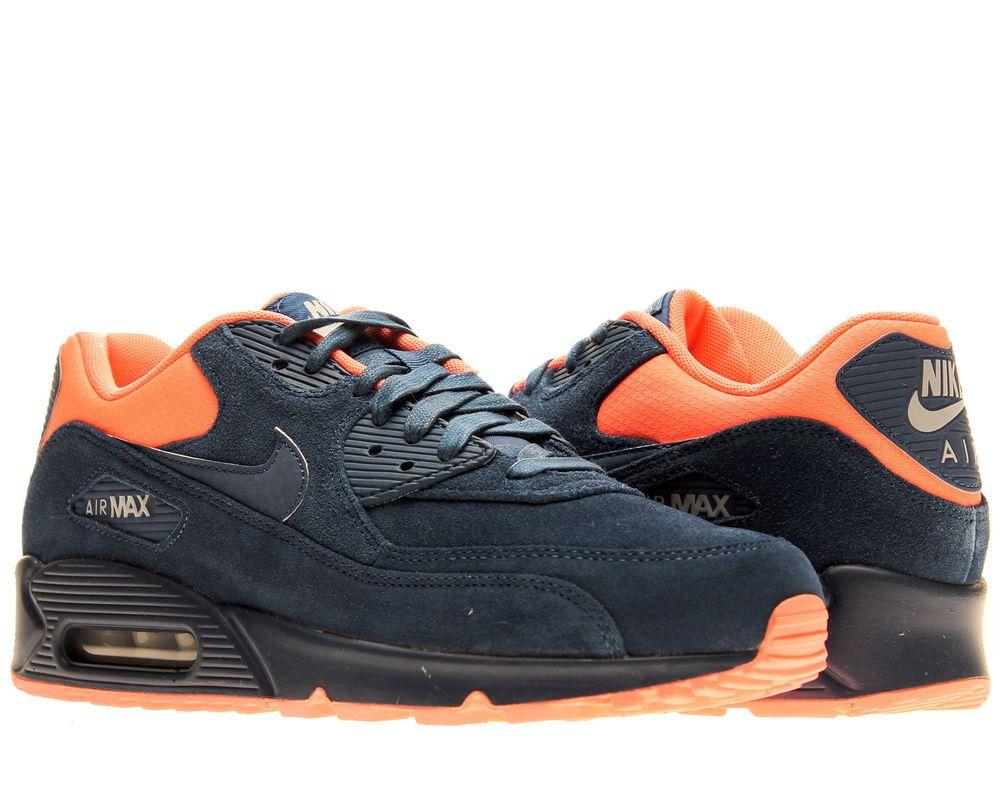 low priced ac79b d7d9c Nike Air Max 90 Premium Brave Blue Atomic Pink Mens Running Shoes 333888-446