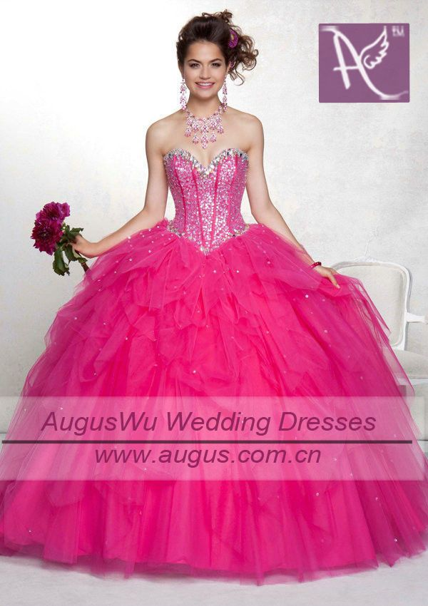 Hot Pink Sweet 16 Dresses | ball gown sweet sixteen hot pink ...