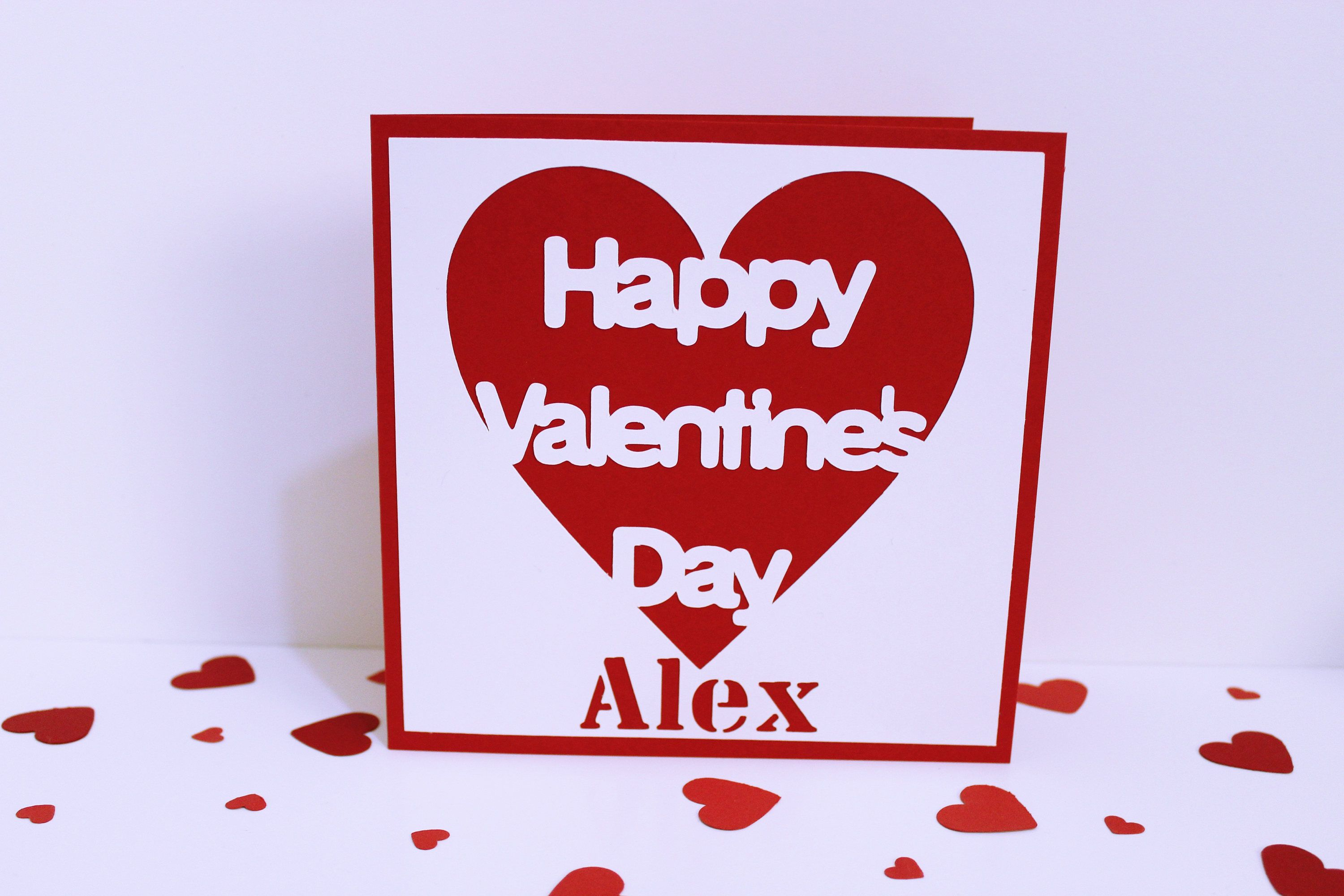 Personalised Valentines Day Card Happy Valentines Day Card
