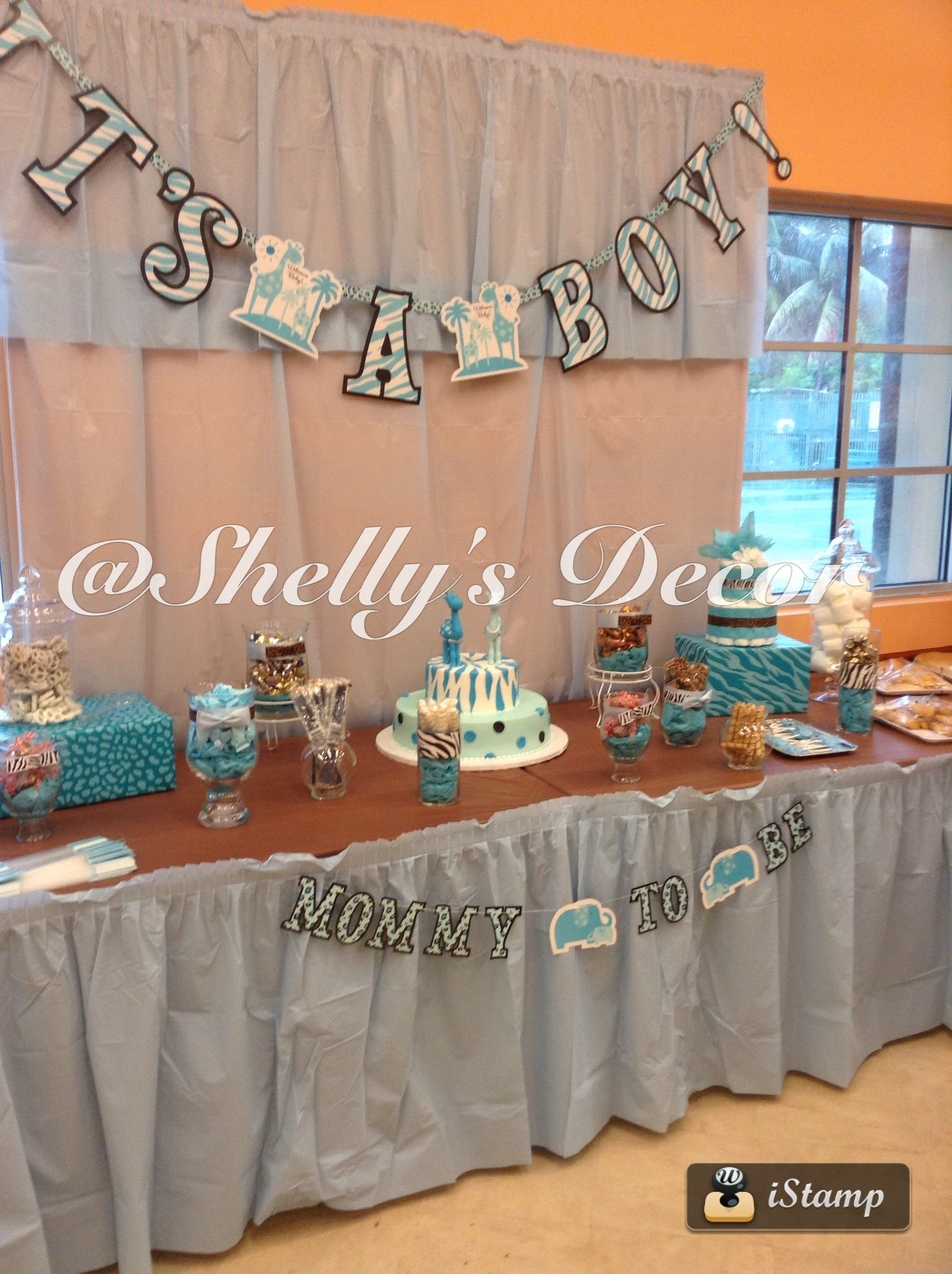 Cake Table, Candy Buffet, Its A Boy Baby Shower