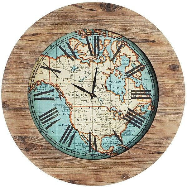 Pier 1 imports multi colored world map clock 129 liked on pier 1 imports multi colored world map clock 129 liked on polyvore gumiabroncs Images