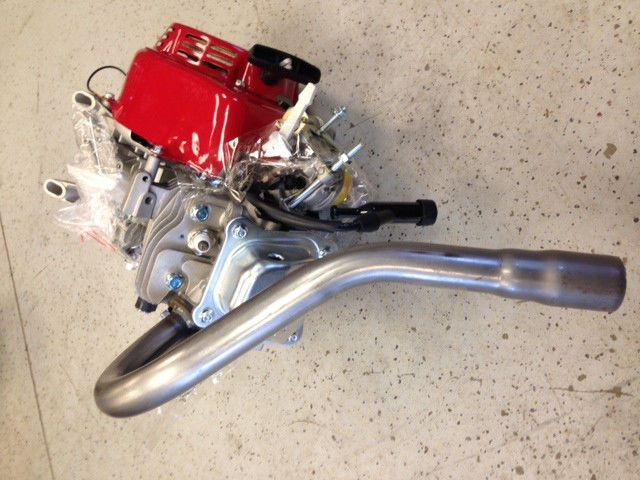 Details about J-Pipe Exhaust Header for Clone / Honda Engine