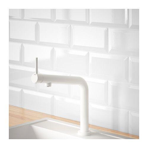 BOSJÖN Kitchen faucet, white Kitchen faucets, Faucet and Kitchens - küchen unterschrank ikea