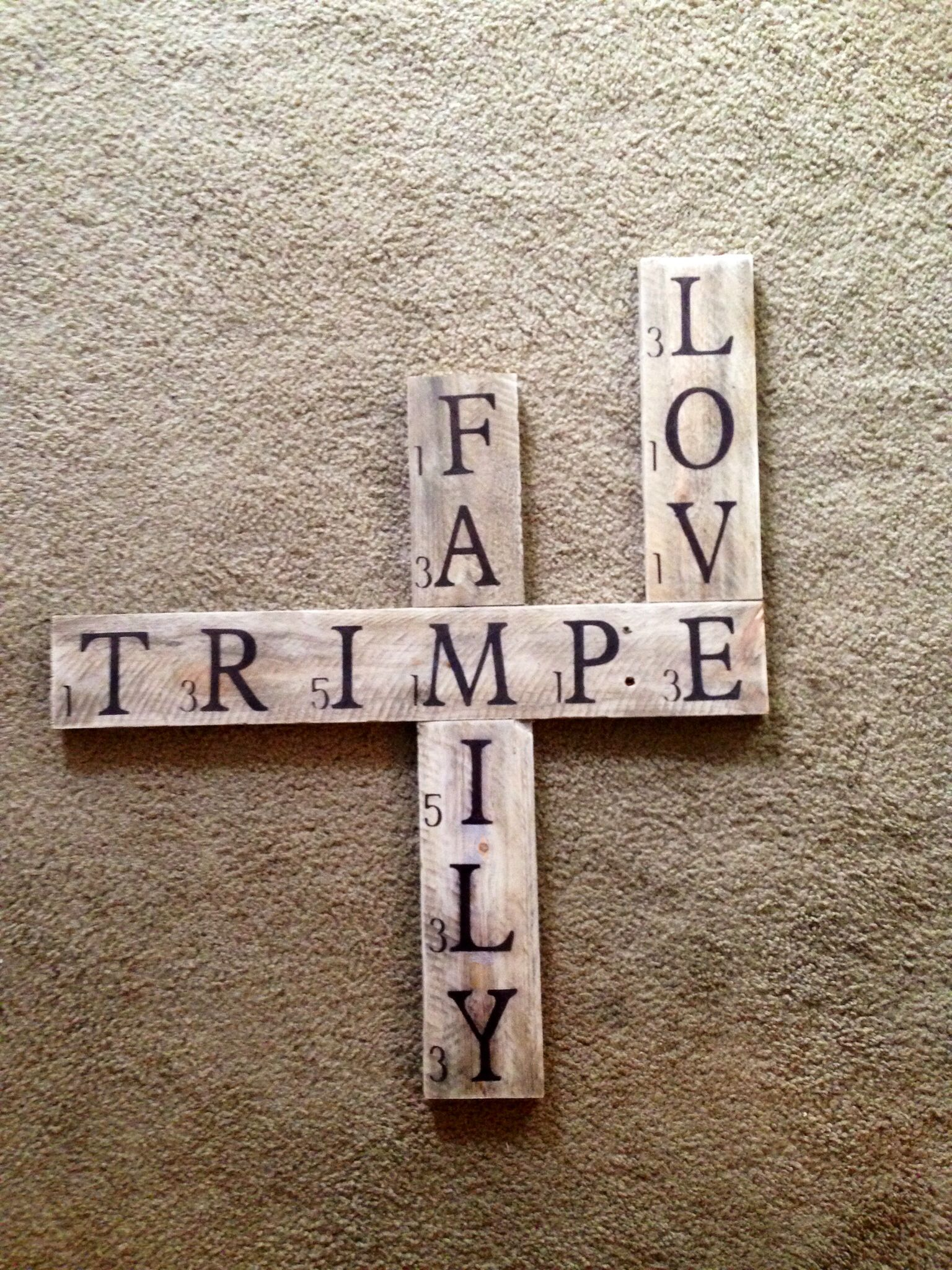 Made from pallet wood...last name sign | Homemade wood ...