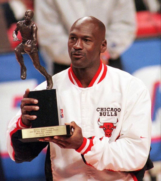 Michael Jordan Chicago Bulls NBA Most Valuable Player MVP Award