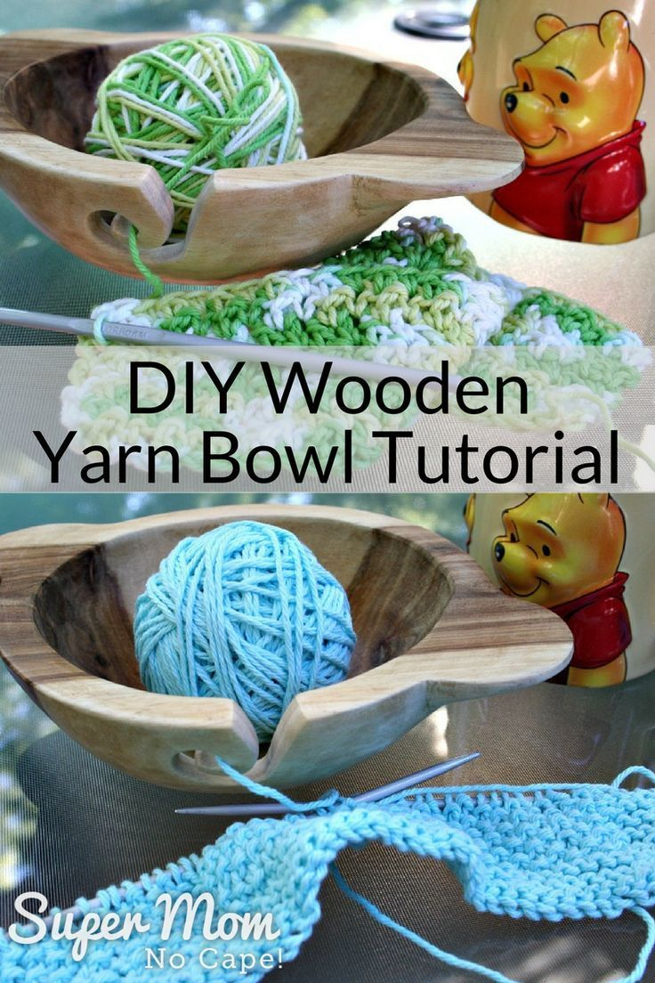 Diy wooden yarn bowl tutorial with images wooden yarn