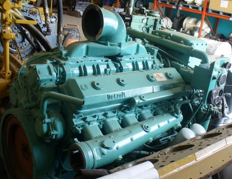 Detroit Diesel Smoke | Detroit 12V71NA, Marine Engine