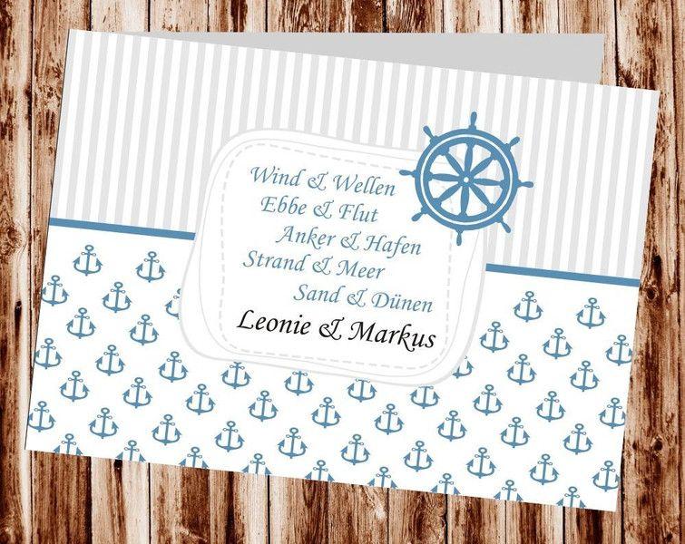 Einladungen Hochzeit, Hochzeit Einladung Maritim