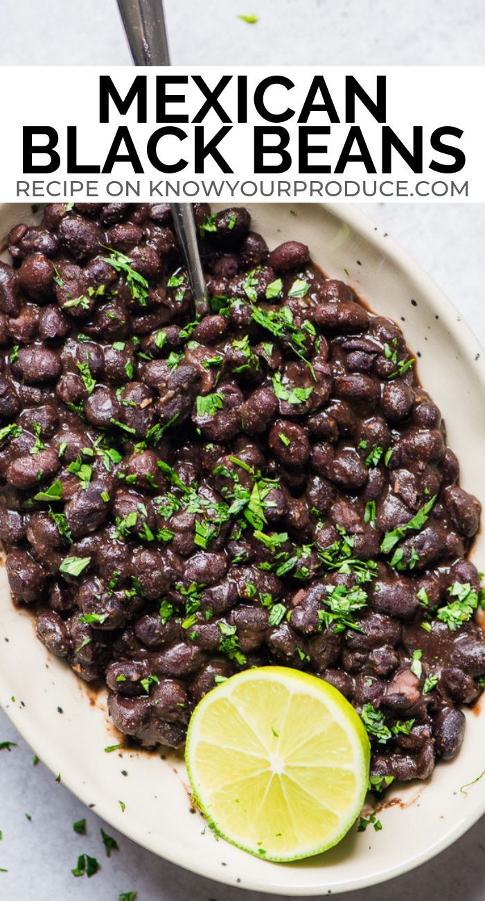 Mexican Black Beans Recipe Good For Tacos Burritos Or Just Rice And Beans Vegan Gluten Free Bean Recipes Recipes Mexican Food Recipes