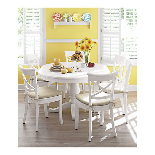 Vintner White Side Chair in Dining Chairs | Crate and Barrel