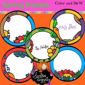 here s a collection of 10 spring frames by artifex free clip rh pinterest ca