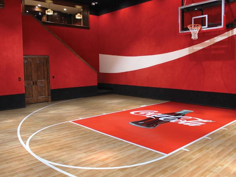 Don T Let Weather Get In The Way Of Play Our Indoor Gym Floors Provide The Traction Shock Sports Court Flooring Home Basketball Court Indoor Basketball Court
