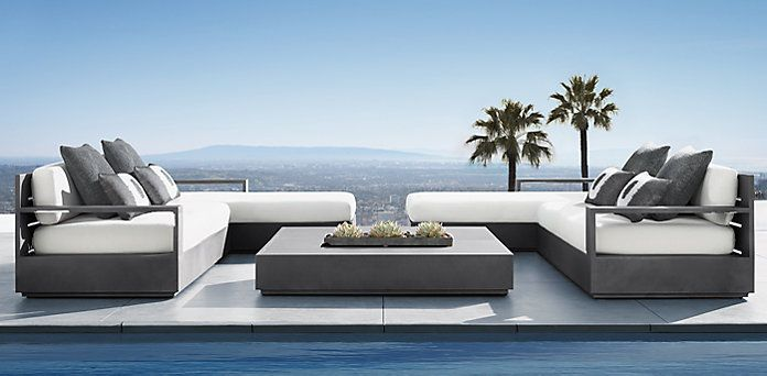Marbella Aluminum Collection Rh Modern