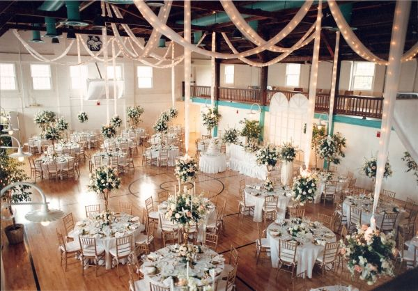 Vintage Gymnasium Fort Lauderdale Wedding Florida Wedding Venues Gym Wedding Reception