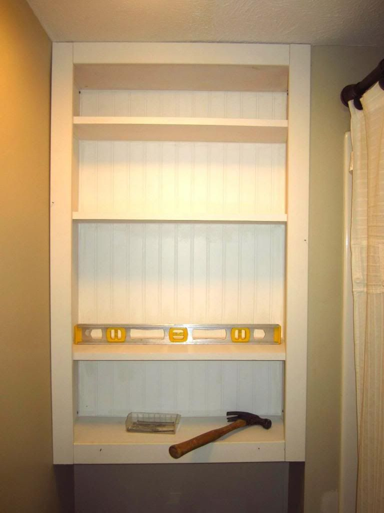 How To Add Storage To Your Bathroom With An Easy, DIY Over The Toilet  Shelving Unit.
