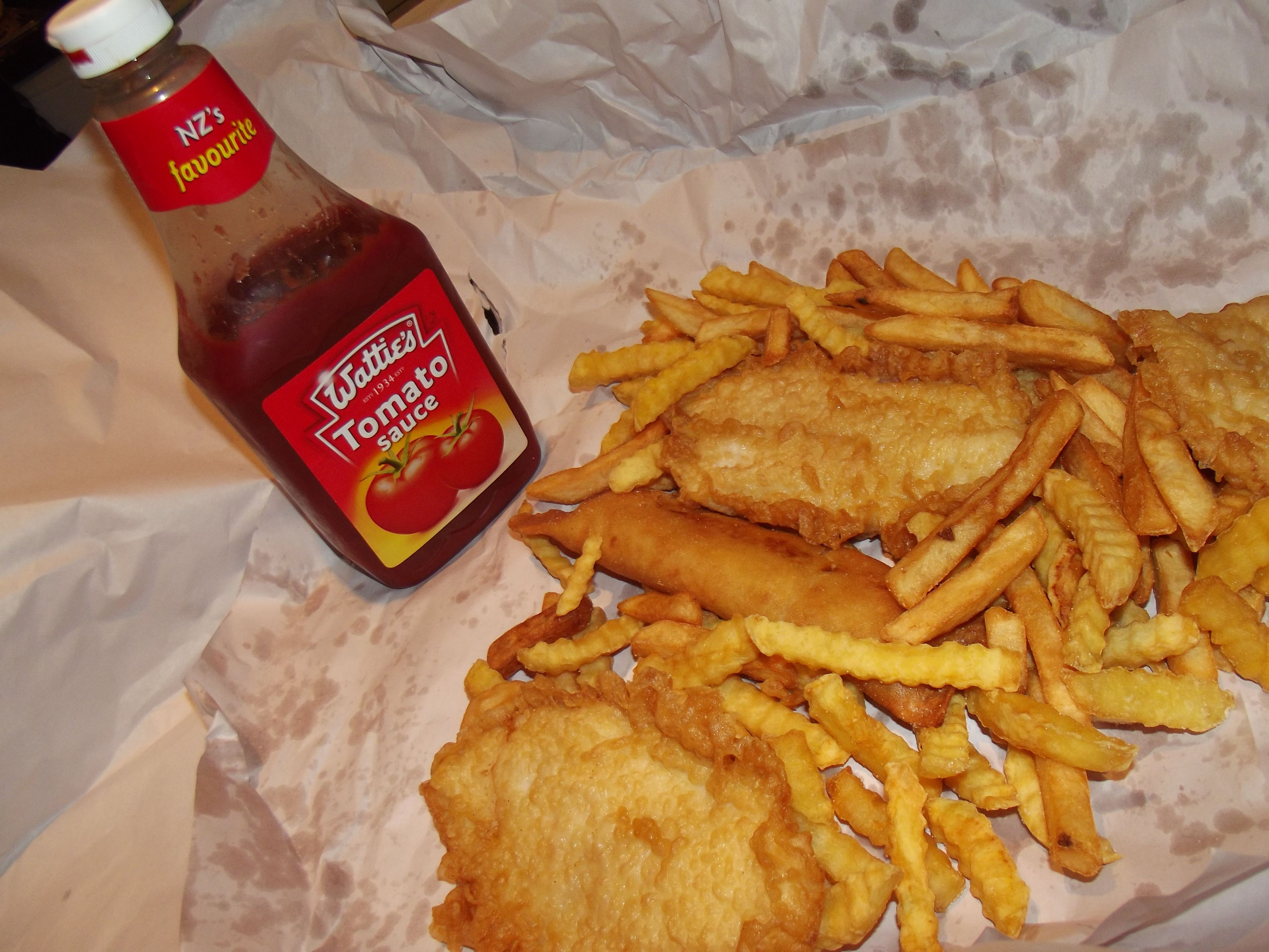 classic fish and chips with nz watties tomato sauce nz eats treats pinterest sauces. Black Bedroom Furniture Sets. Home Design Ideas