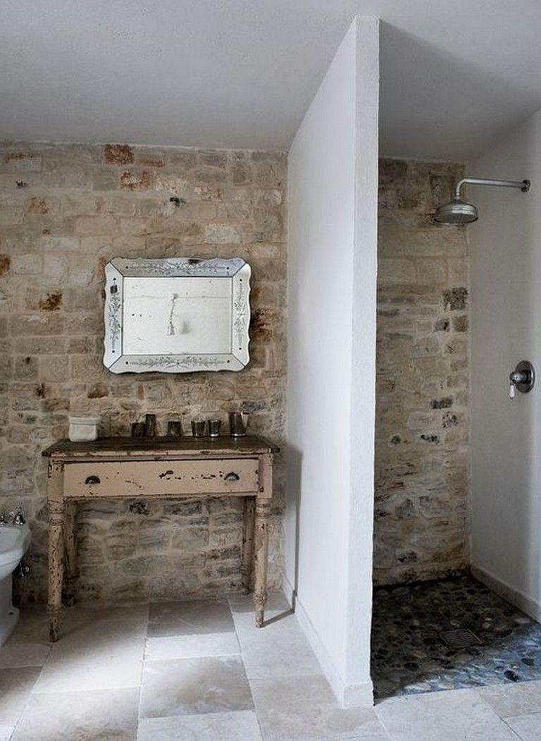 20 Gorgeous Brick Shower Wall Tile Designs Vintage Bathroom Page 16 Of 22 Shower Wall Tiles Design Wall Tiles Design Brick Tile Shower