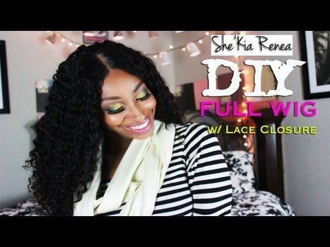 DIY Full Wig With Lace Closure Tutorial (Protective Style)