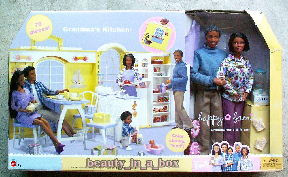 Grandmas kitchen happy family barbie doll grandpa aa
