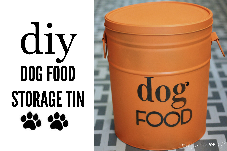 Diy Dog Food Storage From A Popcorn Tin Dog Food Recipes Dog