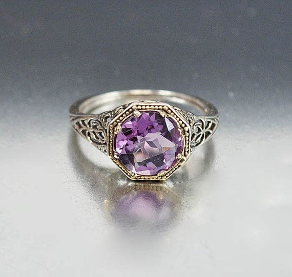 Vintage Sterling Silver Filigree Amethyst Ring #Vintage #Jewelry great etsy shop