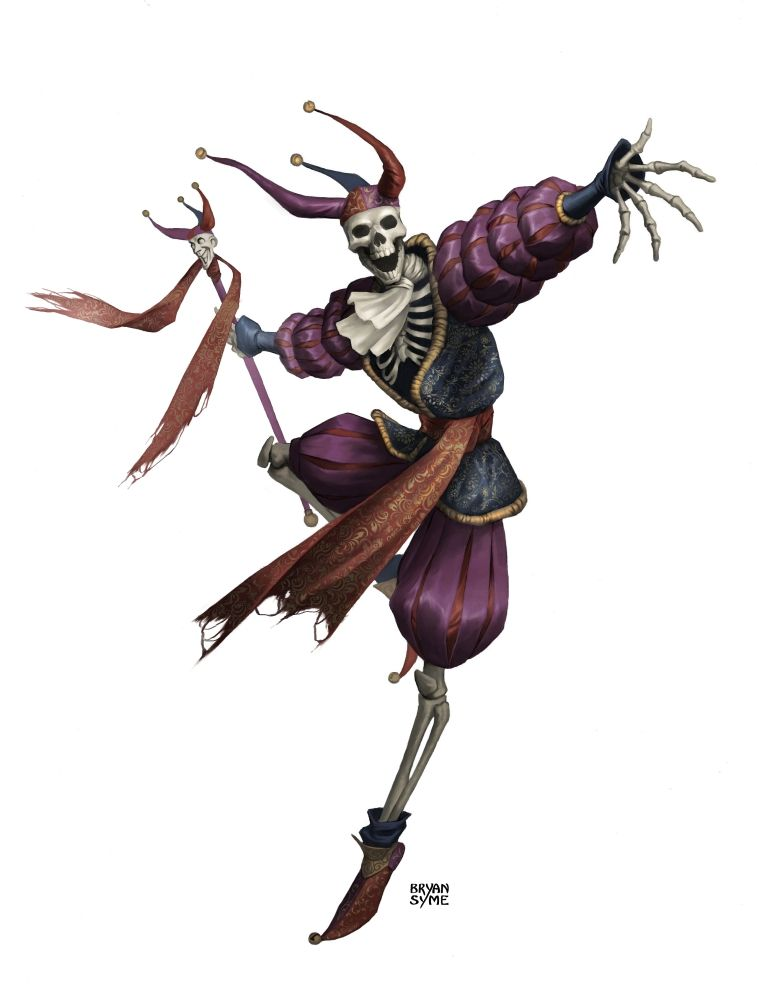 Anime Jester Characters : Skeleton jester he s always grinning undead fantasy