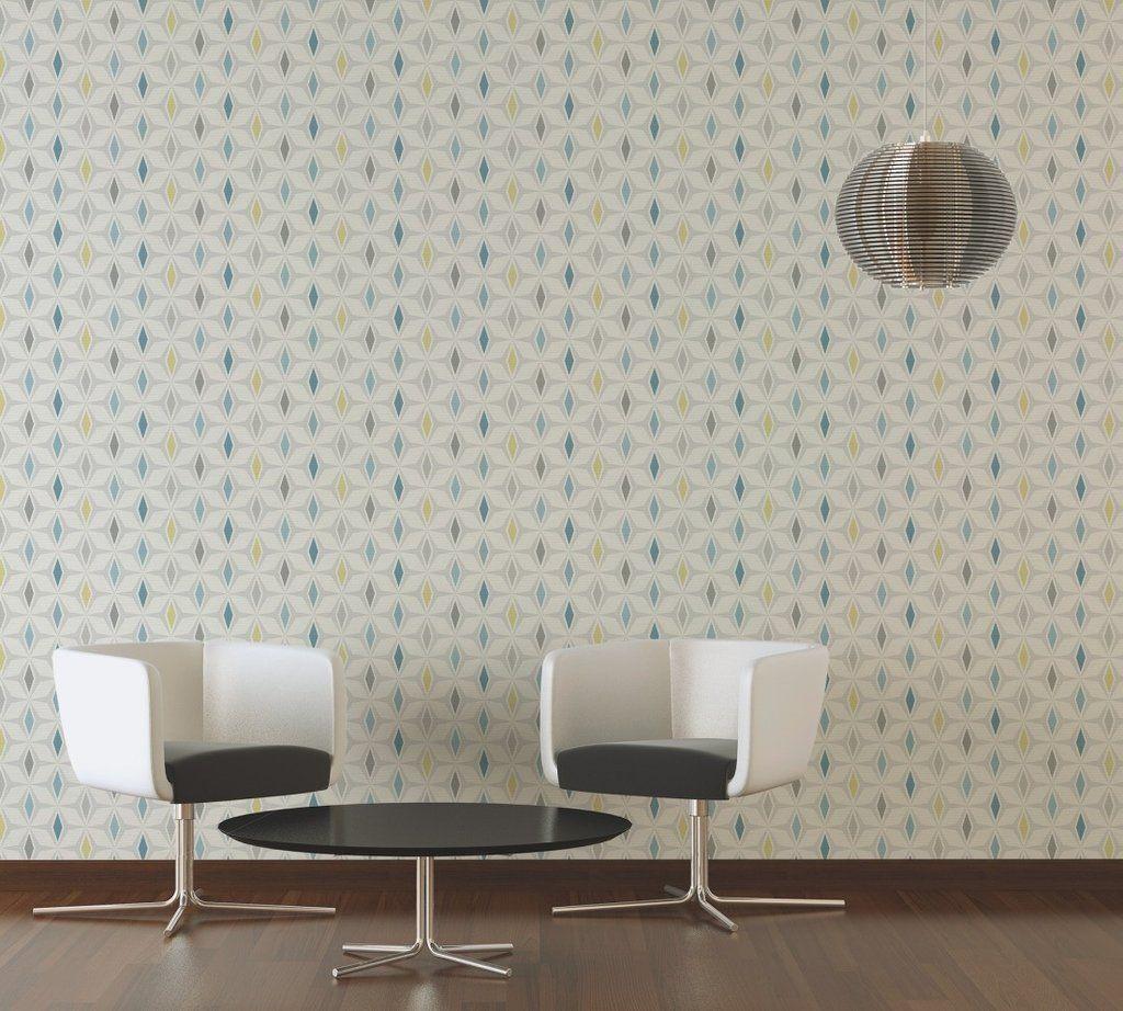 Around The World Geometric Teal Geometric wallpaper
