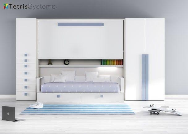 Habitaci n infantil con cama abatible y cama nido - Habitacion infantil cama nido ...