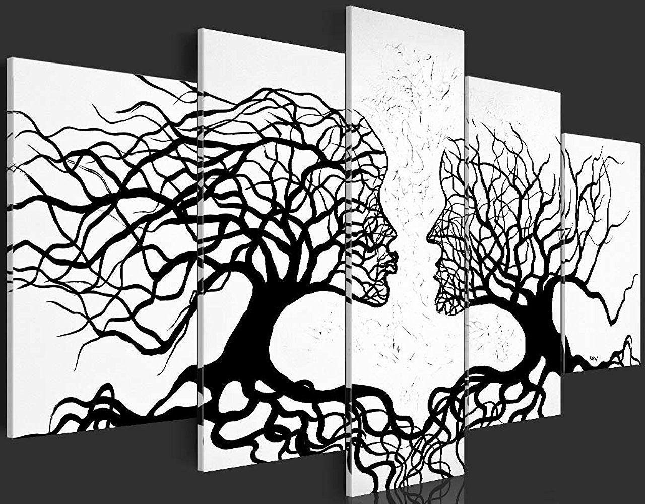 Bilder 200x100 Cm Xxl Format Fertig Aufgespannt Top Vlies Leinwand 5 Teilig Wand Bild Kunstdru Wandbild Abstrakt Leinwandbilder Abstrakt Abstrakt