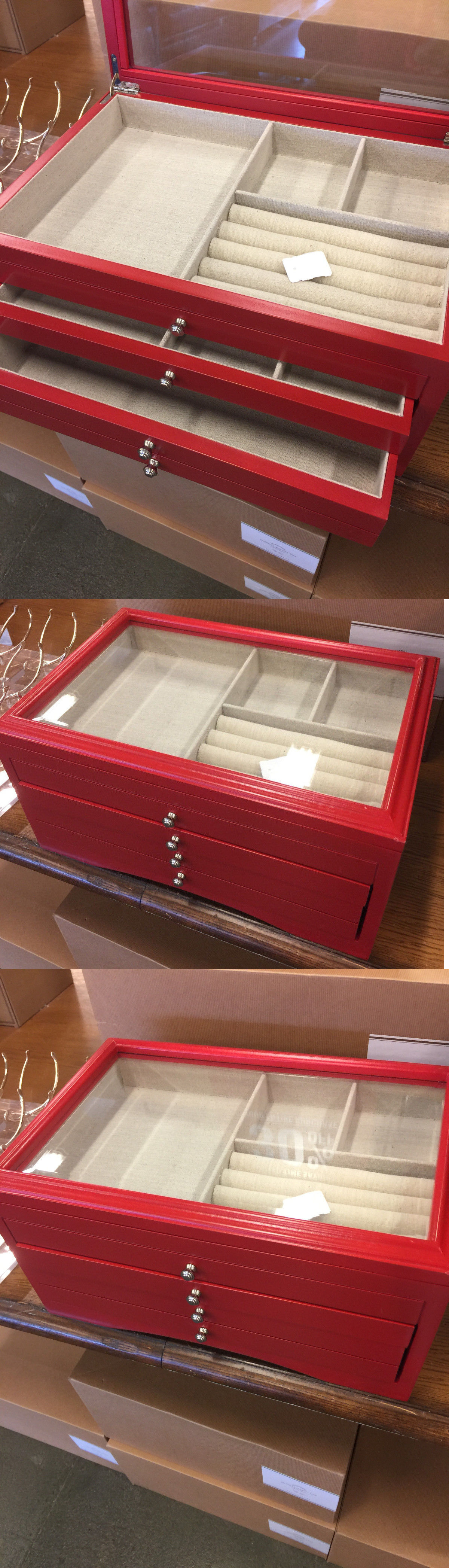 Jewelry Boxes 3820 Pottery Barn Very Large Andover Jewelry BoxRed