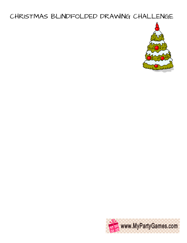 Christmas Blindfolded Drawing Challenge Draw A Christmas Tree