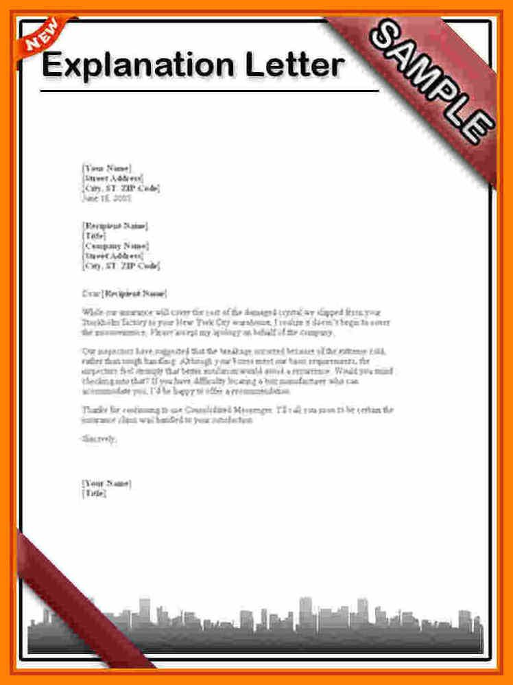 Sample Explanation Letter Formal Business Format Templates Amp