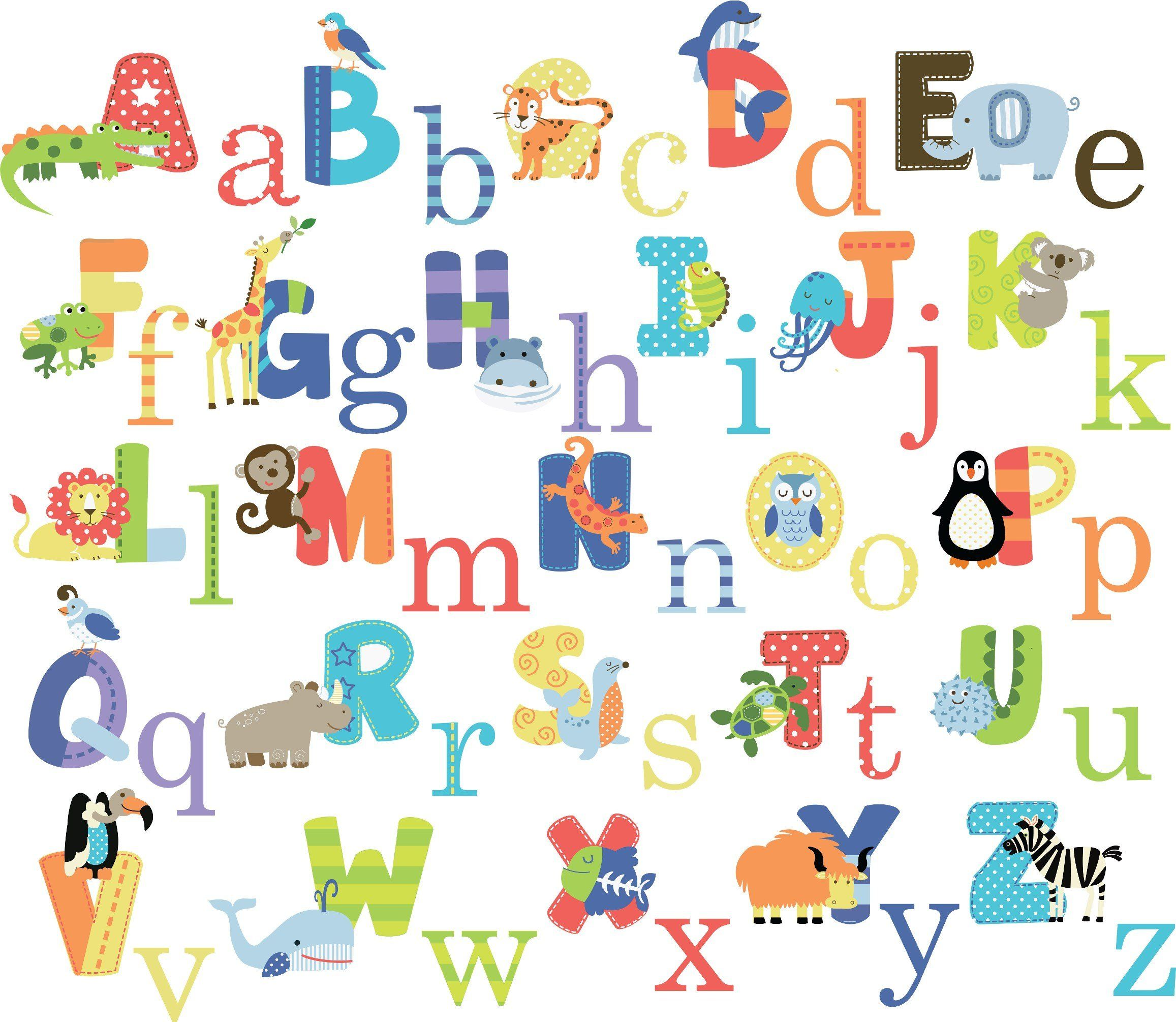 Animal Alphabet Baby Nursery Peel Stick Wall Art Sticker Decals - Wall decals for church nursery