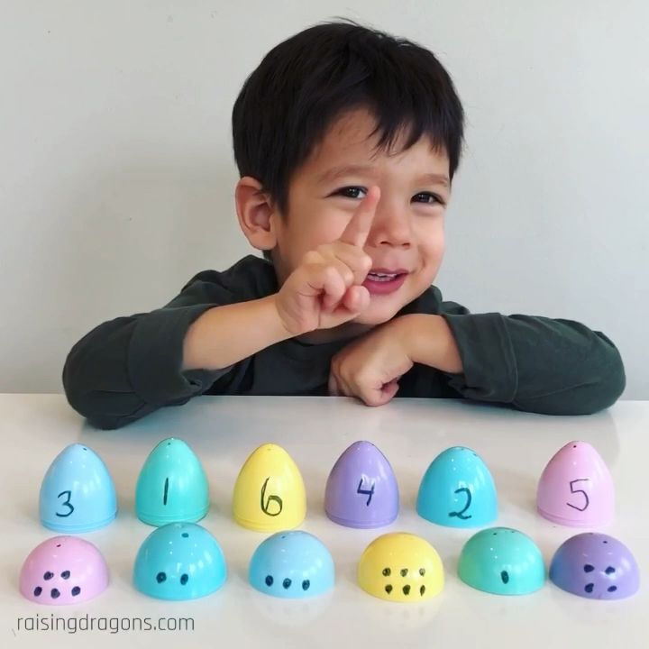 Easter Egg Number Match * ages 2 - 5 ⋆ Raising Dra