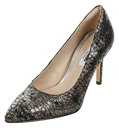 Clarks Dinah Keer, Damen Pumps, Grau (Metallic Leather), 35.5 EU (3 Damen UK) - http://on-line-kaufen.de/clarks/35-5-eu-clarks-dinah-keer-damen-pumps-3