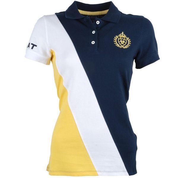 Ariat Taryn Para Mujer T-Shirt Camisa De Polo-Azul Marino Nautilus todos los tamaños
