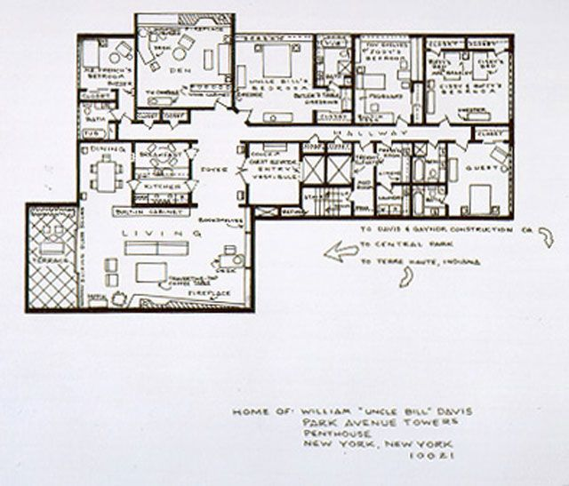 Blueprints Of NY-Based TV Homes FAMILY AFFAIR TV Shows \ Movie - fresh blueprint maker website