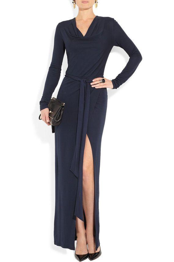 Maxi Evening Wrap Dress Formal Custom Dress By Ctbycouturetime