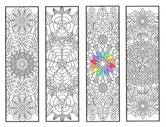 färbung lesezeichen blume mandalas seite 1 malvorlagen für