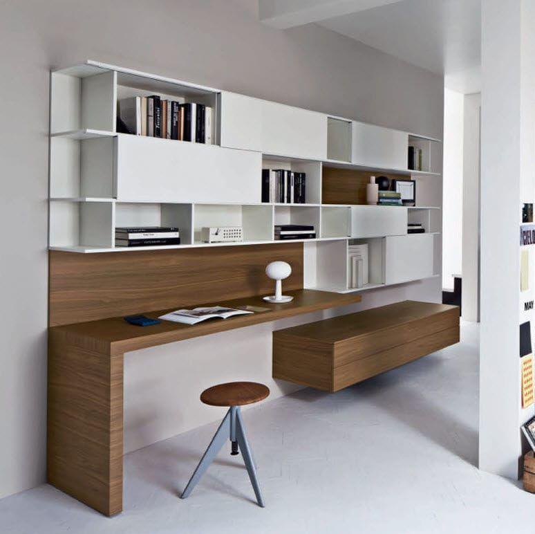 bureau contemporain en bois avec etagere alterno mobilificiongiacomo