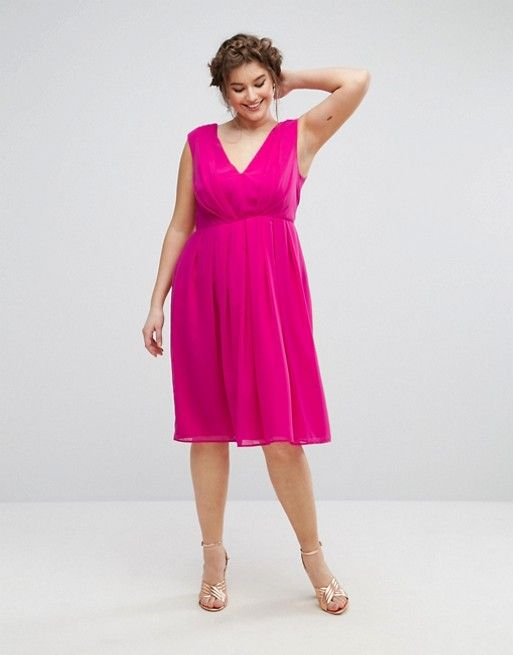 7b12f93fca1 Pink Plus Size Dress to Wear to a June Wedding