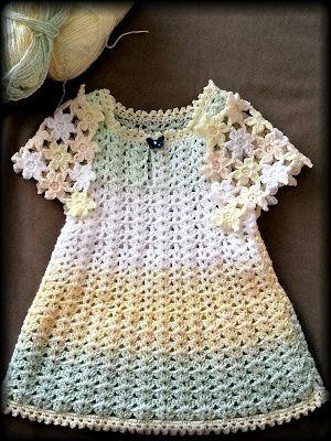 Free Crochet Baby Dress Pattern By Wanting Crochet Pinterest