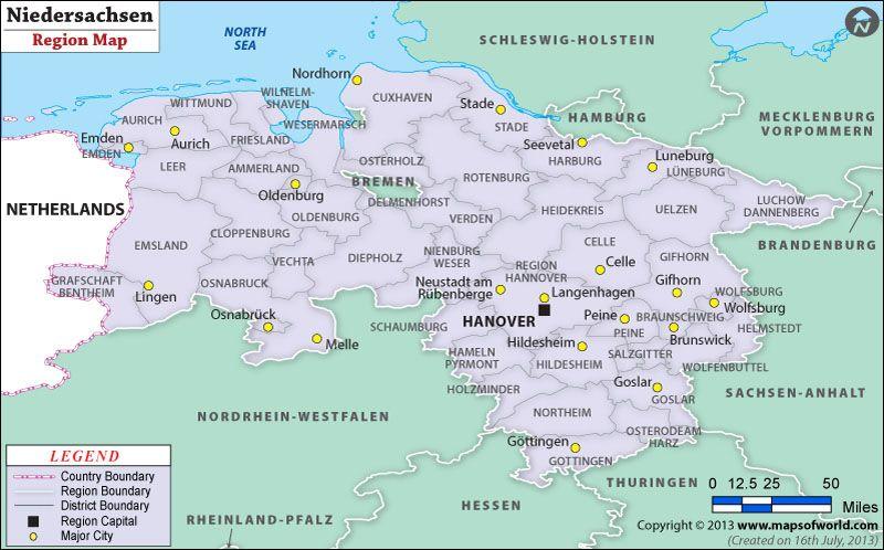 Niedersachsen Map Stade