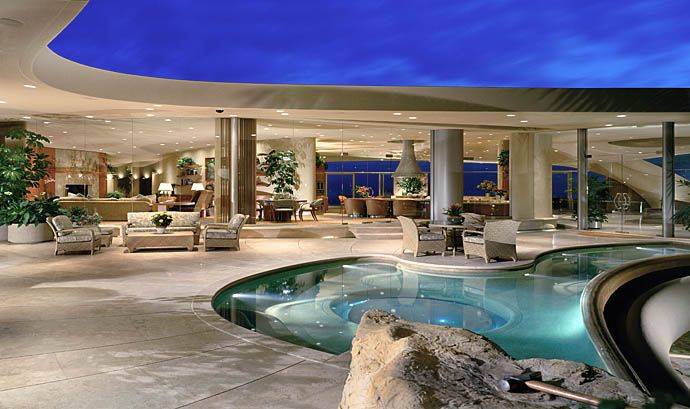 Pool terrace of portabello estate in california pool for Most expensive house in newport beach