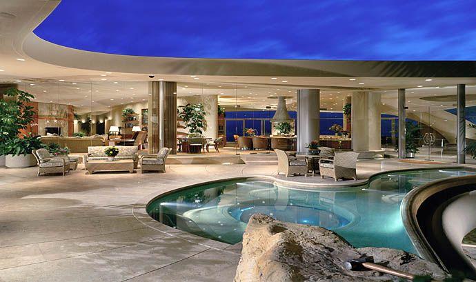 Pool Terrace Of Portabello Estate Newport Beach Home In California Architecture Cool Pools Mansions